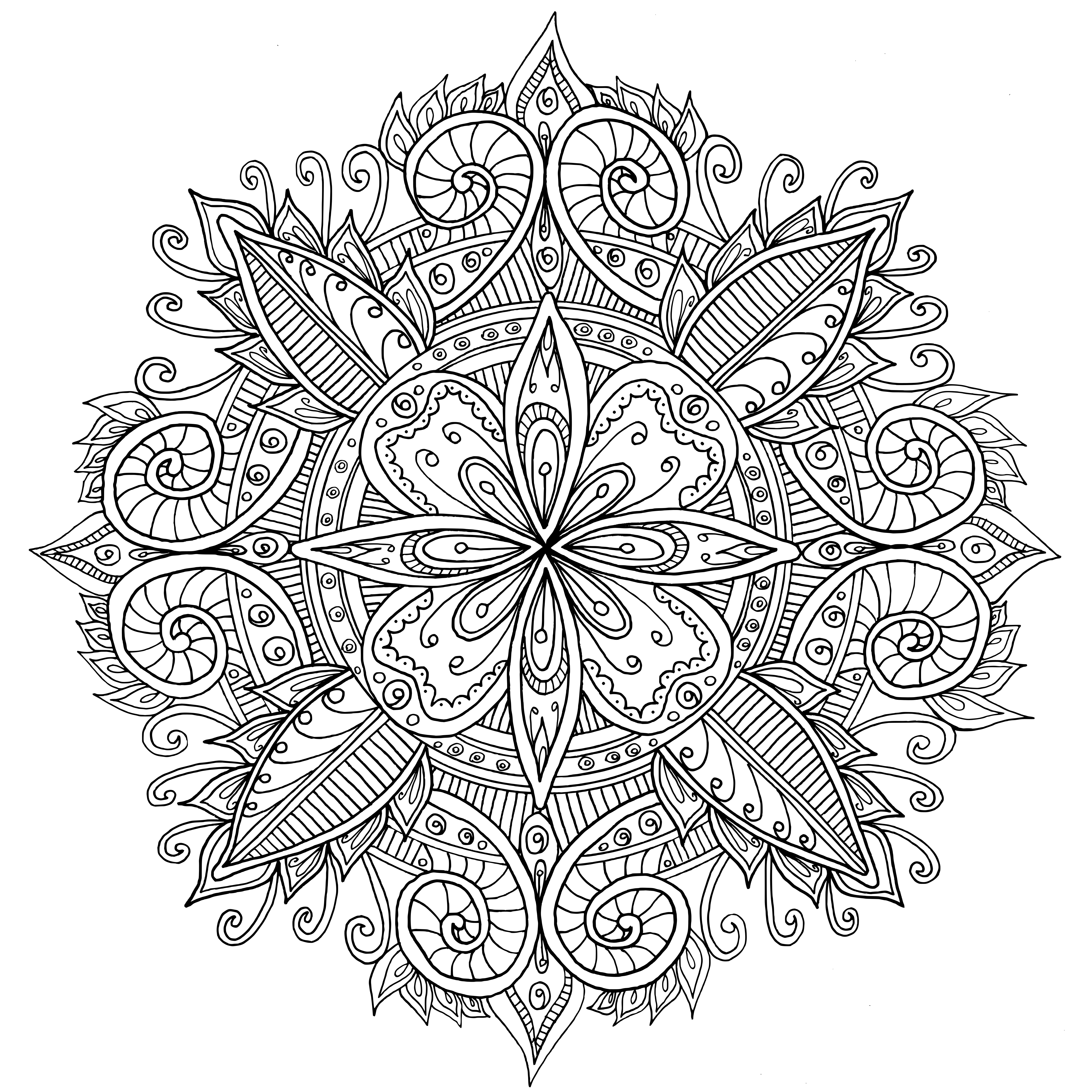 mandalas coloring pages | Weekend Mandala by WelshPixie on DeviantArt