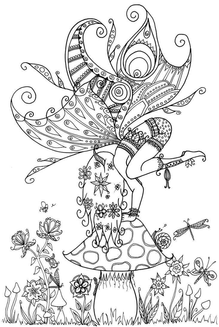 elves coloring pages images witch - photo#28
