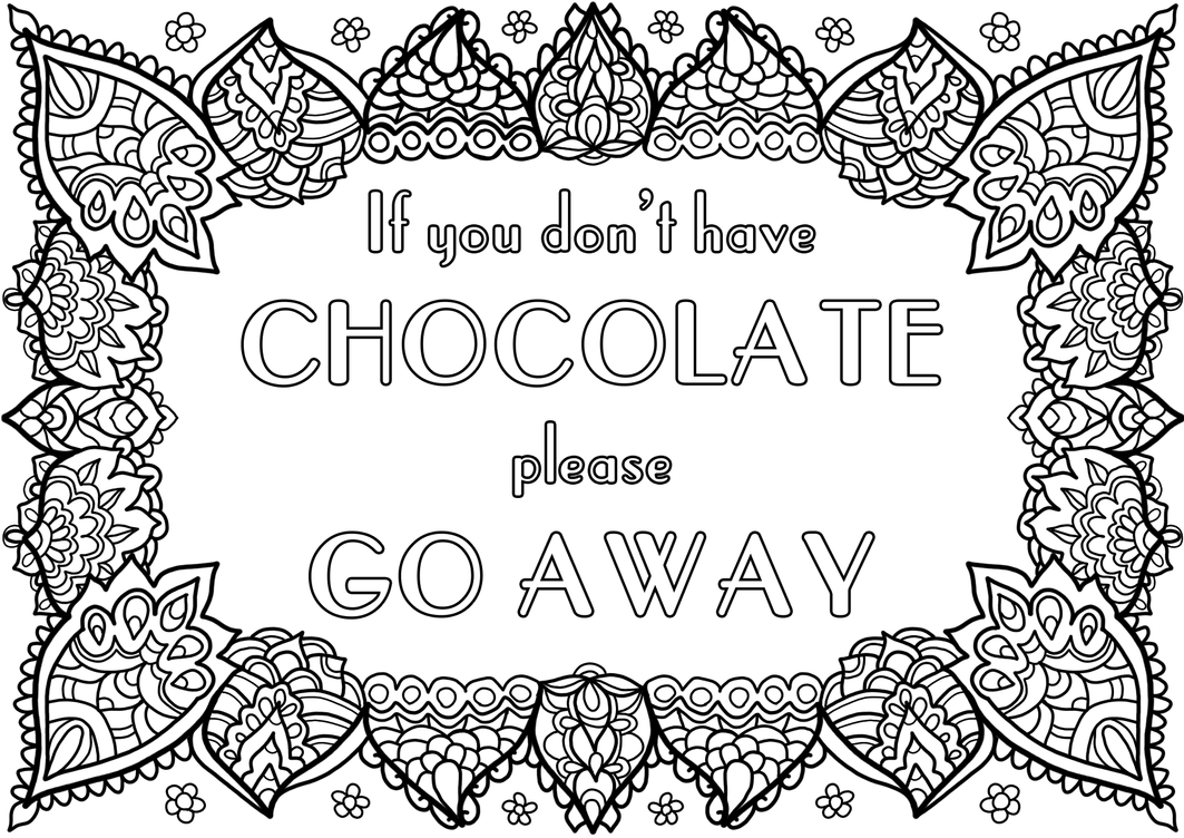 full color cheeky chocolate coloring pages | Free Colouring Page - Chocolate! by WelshPixie on DeviantArt