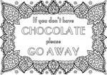 Free Colouring Page - Chocolate!