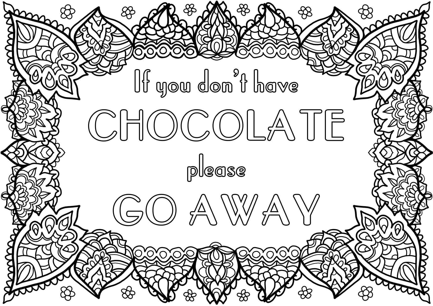 Free Colouring Page - Chocolate! by WelshPixie on DeviantArt
