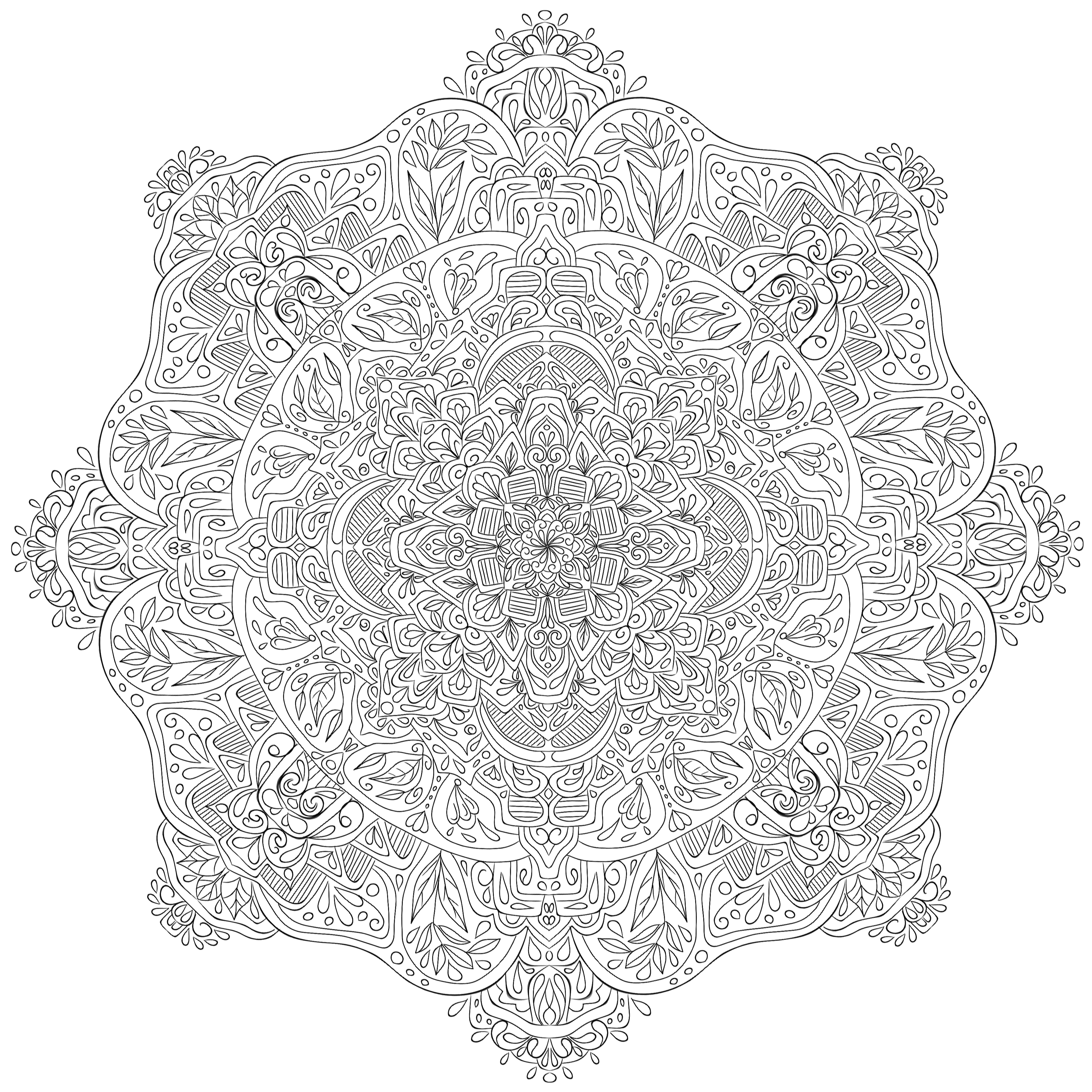 Line Art In Krita : Krita mandala by welshpixie on deviantart