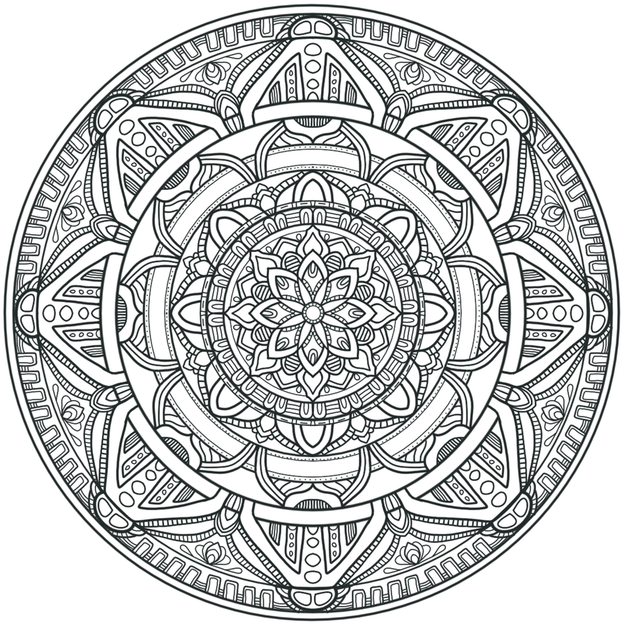 Krita Circles Mandala 3 By WelshPixie