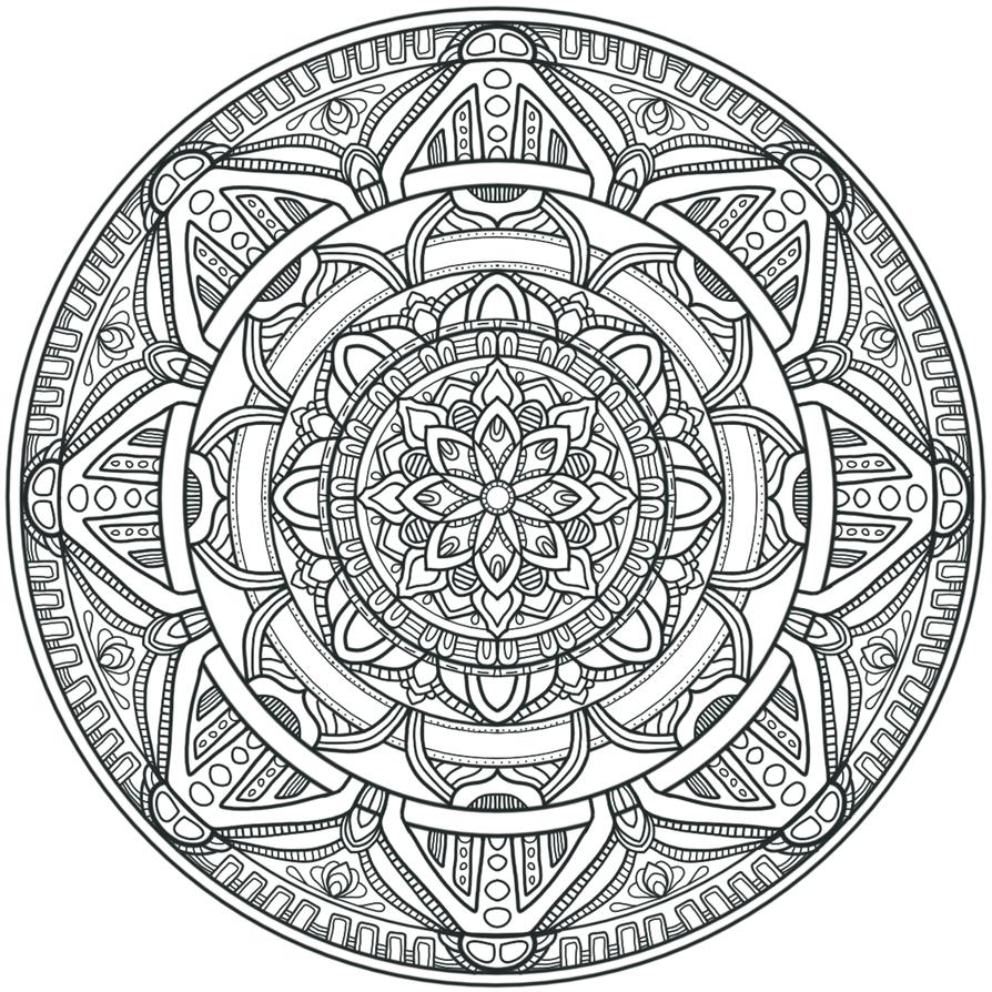 Krita Circles Mandala 3 by WelshPixie
