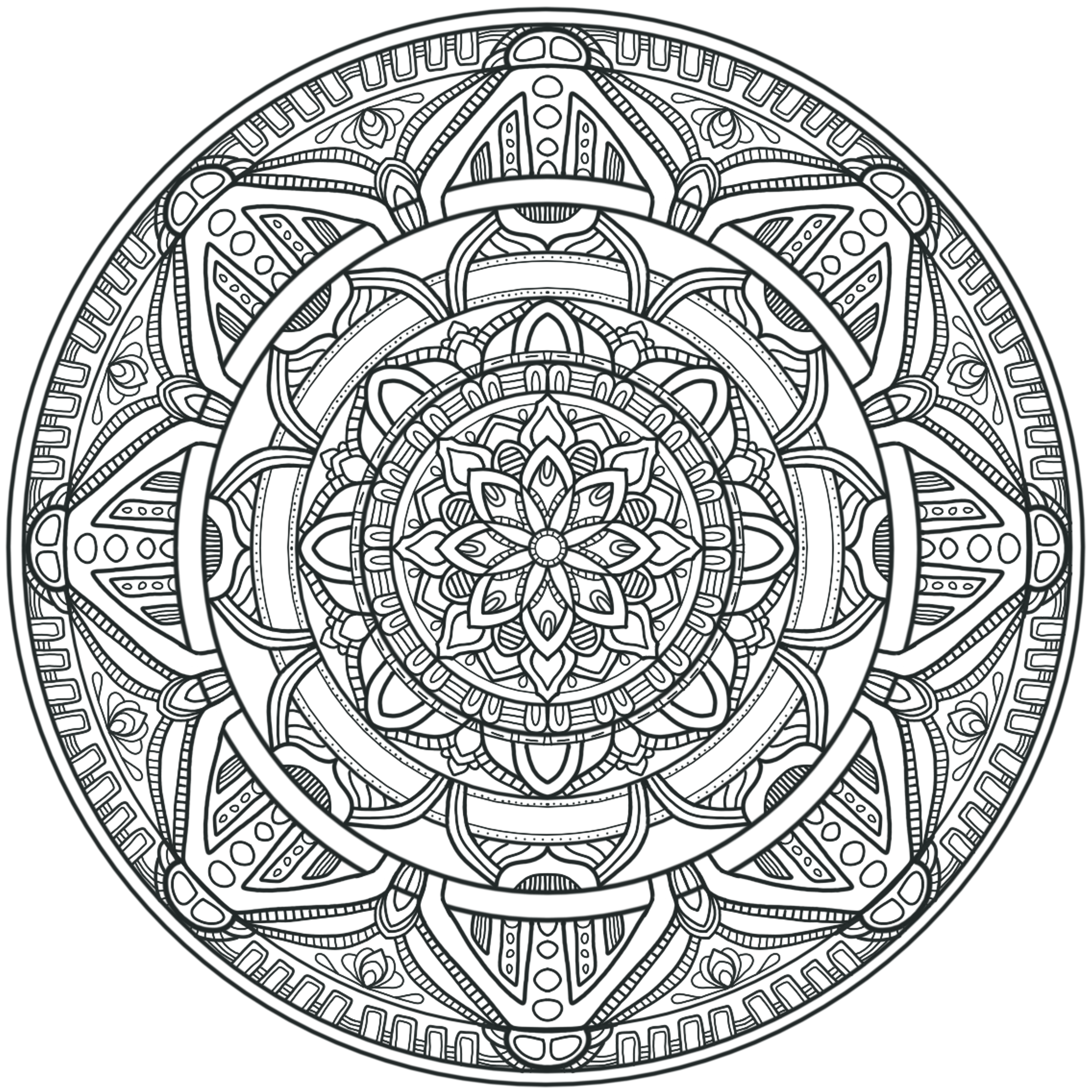 mandala circles coloring pages - krita circles mandala 3 by welshpixie on deviantart