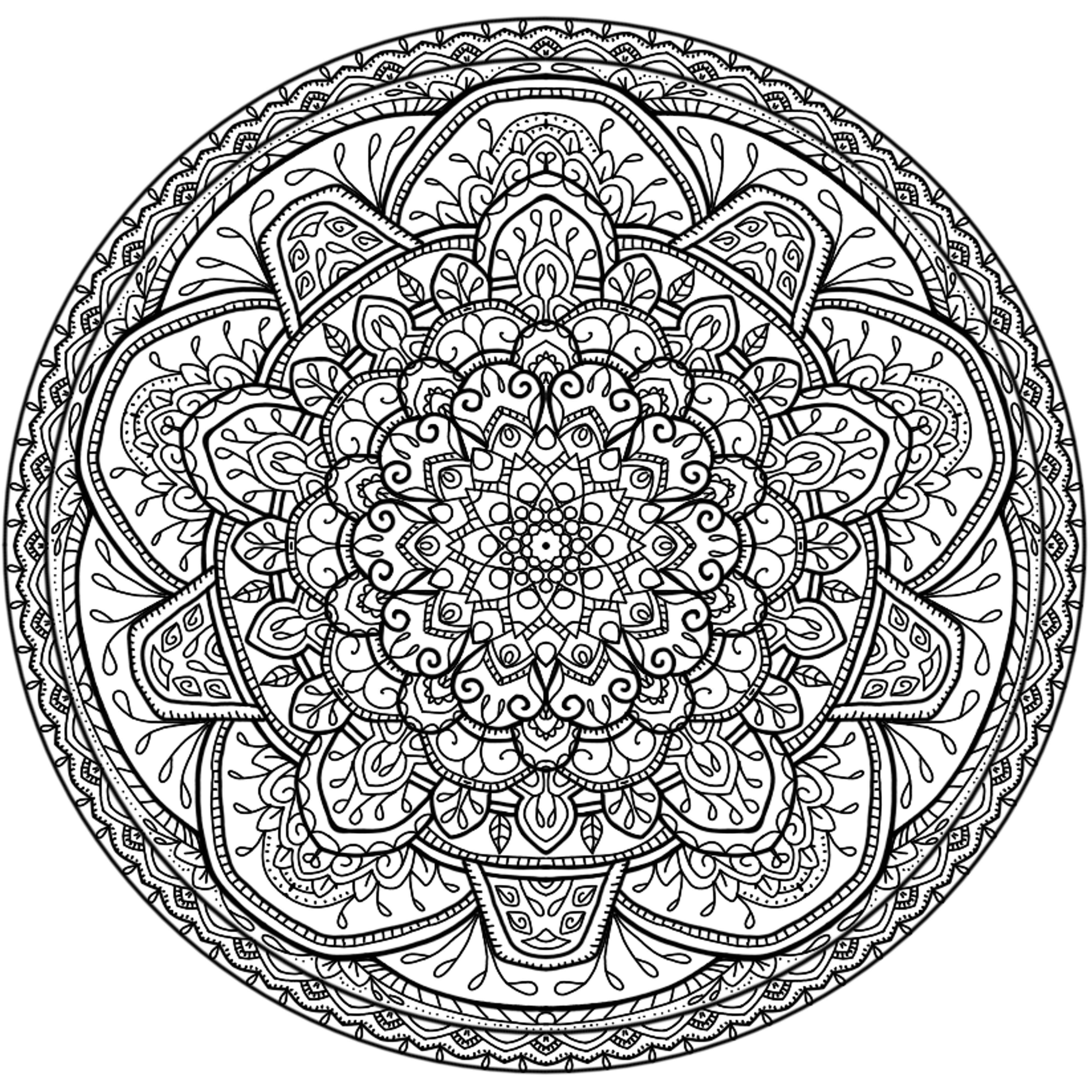 mandala circle coloring pages - photo#26