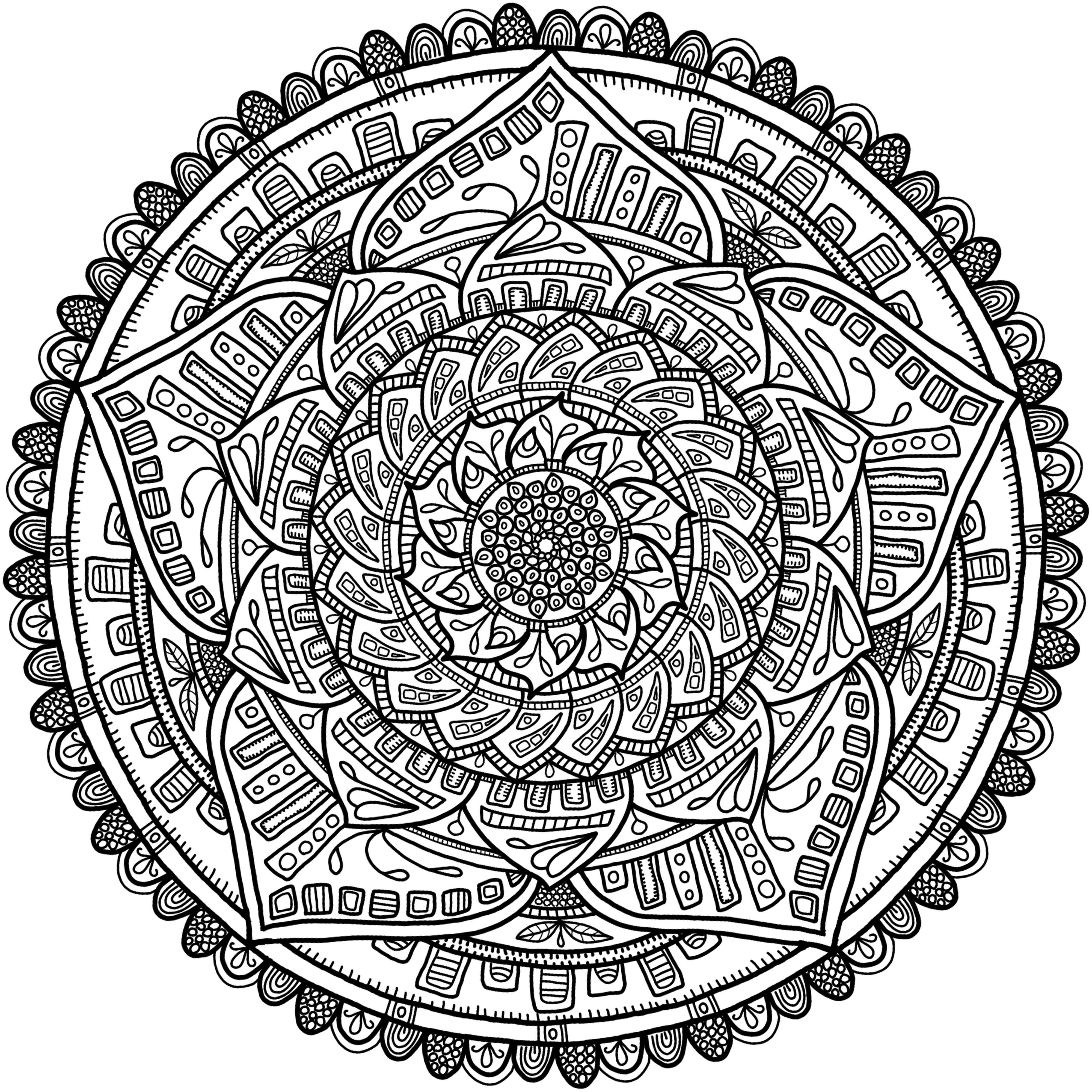 mandala circles coloring pages - krita circles mandala 6 by welshpixie on deviantart