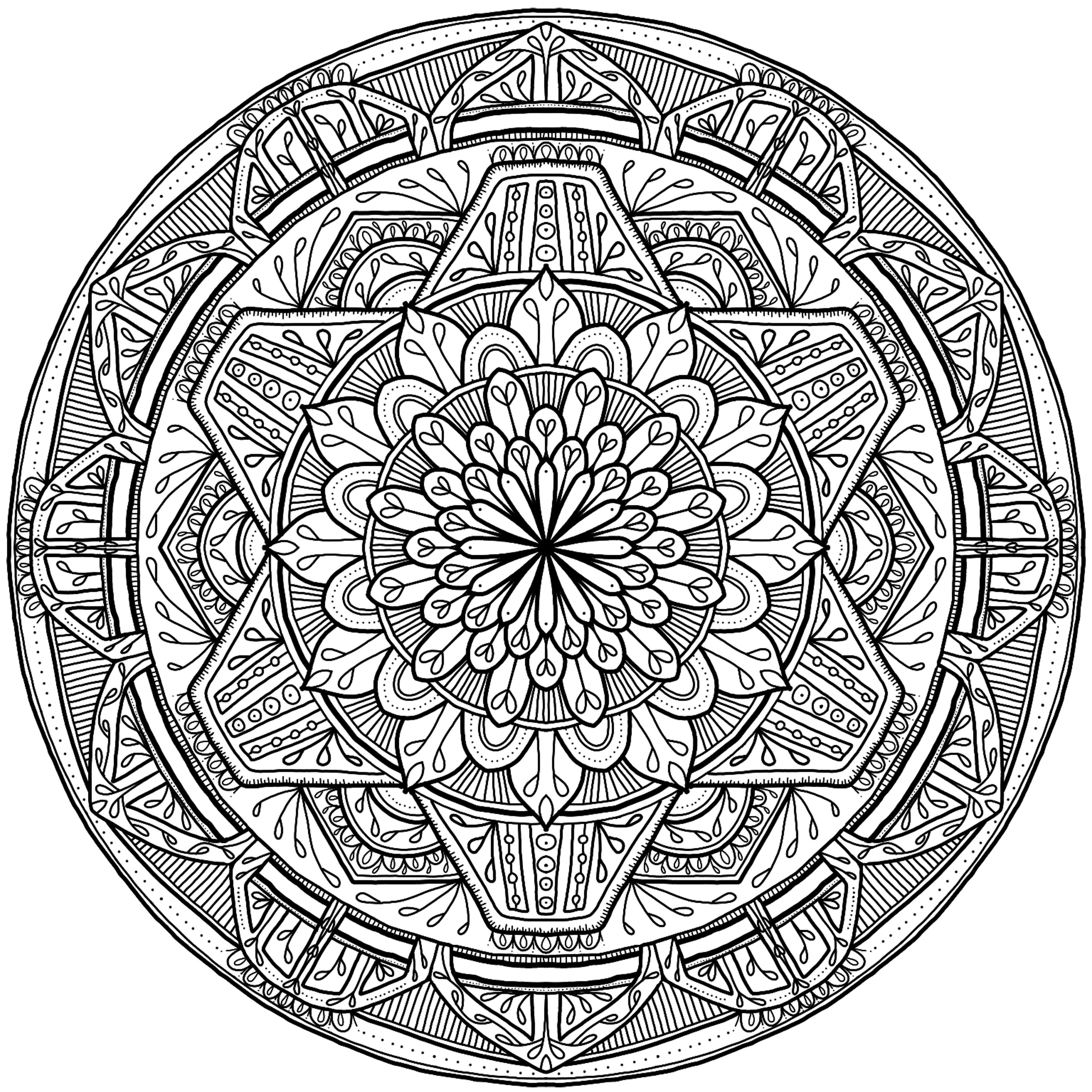 mandala circle coloring pages - photo#27