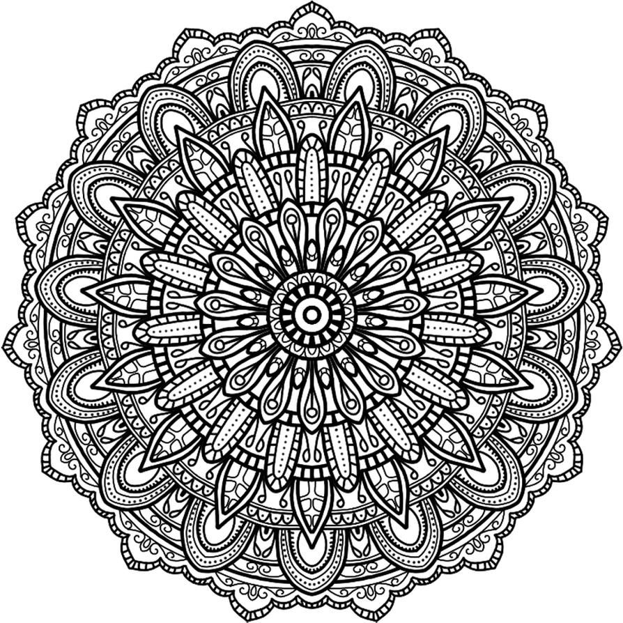 Krita Circles Mandala 8 by WelshPixie