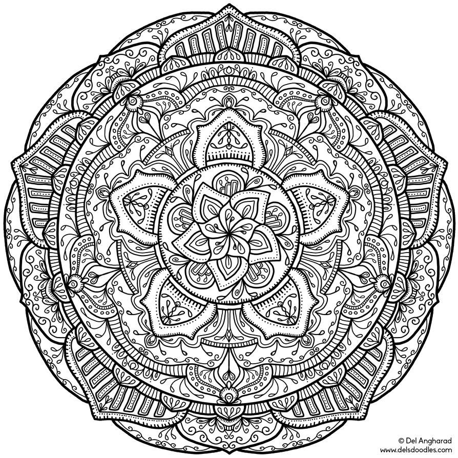 Teen Coloring Pages Mandala