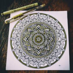 Black and Gold Mandala by WelshPixie