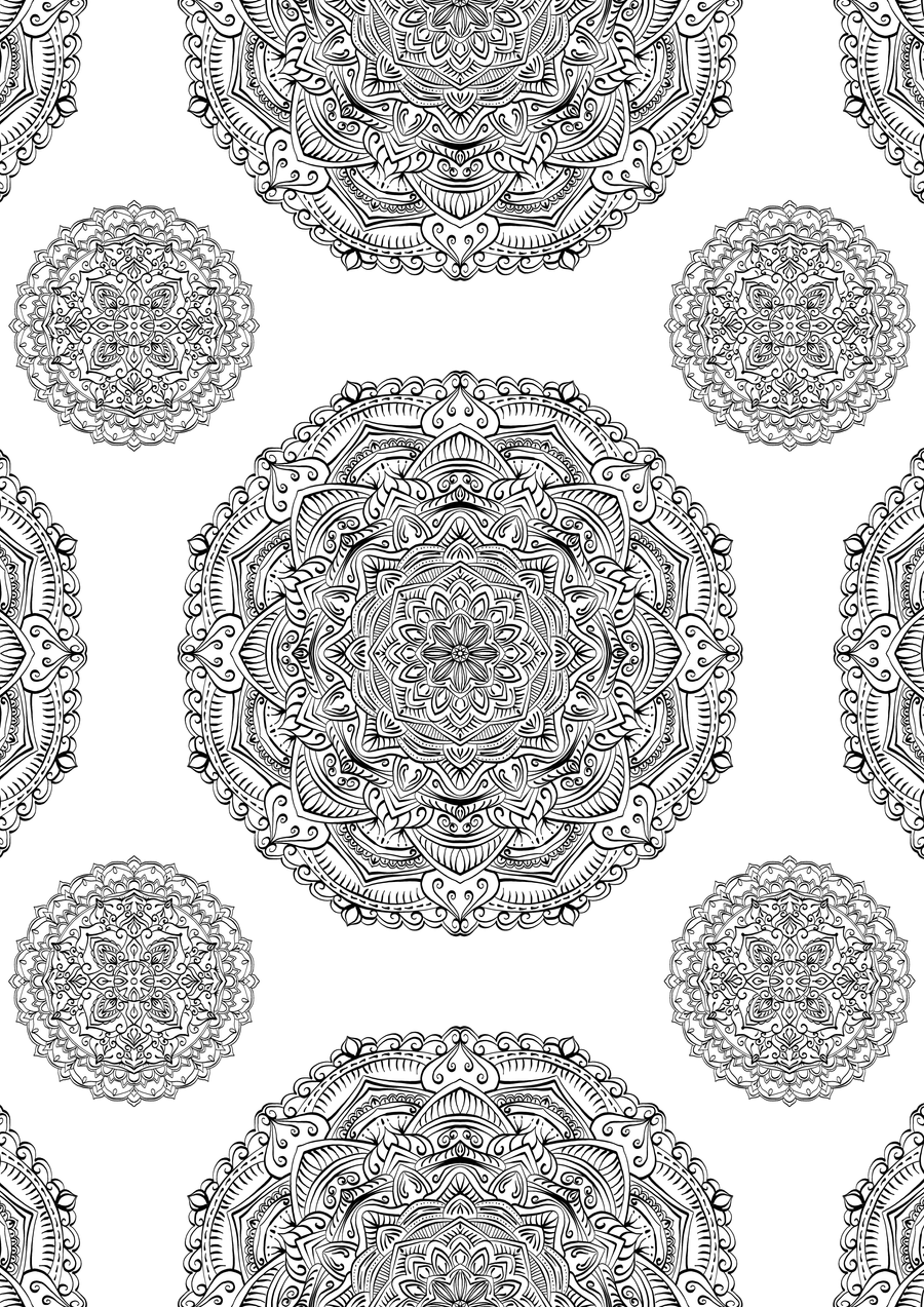 Moroccan themed pattern page by welshpixie on deviantart for Moroccan coloring pages