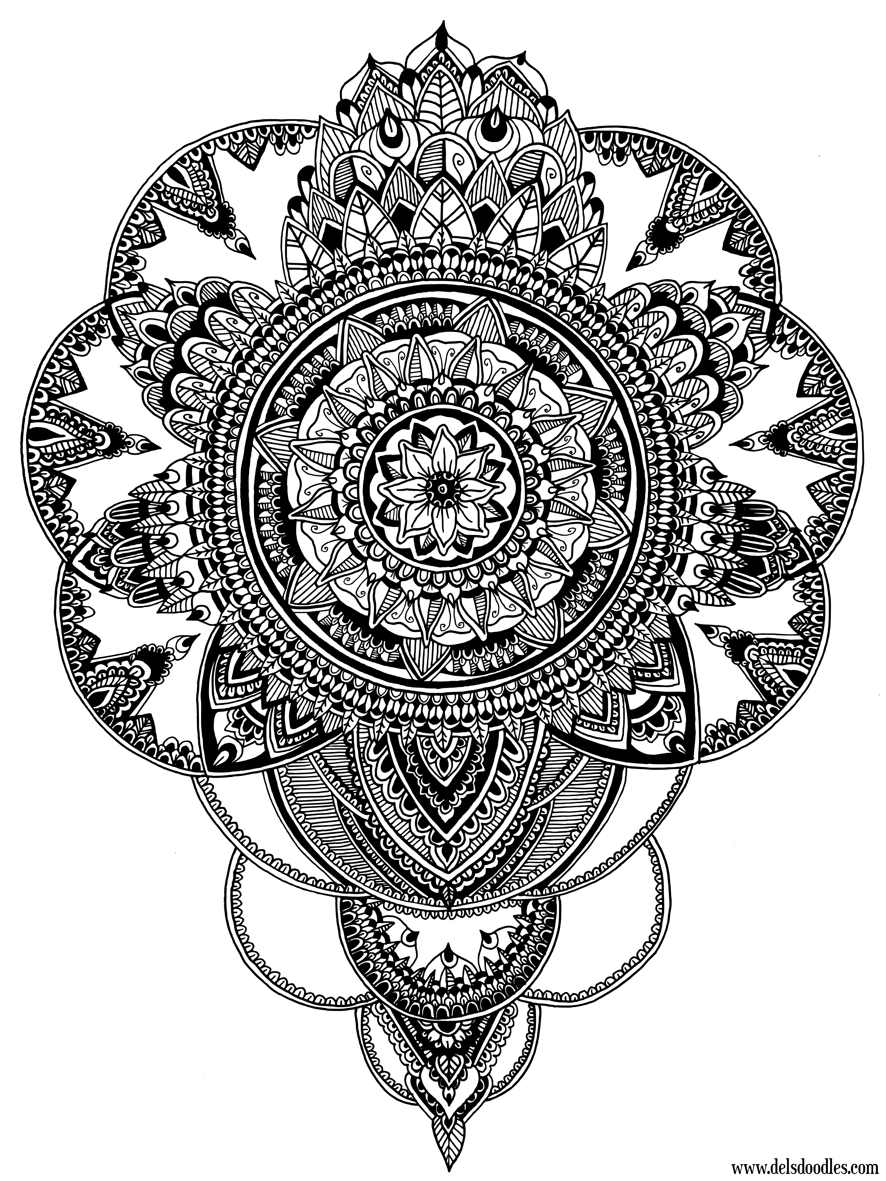Two Detailed Colouring Pages