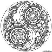 Yin-Yang Coloring Page by WelshPixie