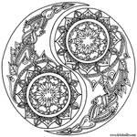 Yin-Yang Coloring Page