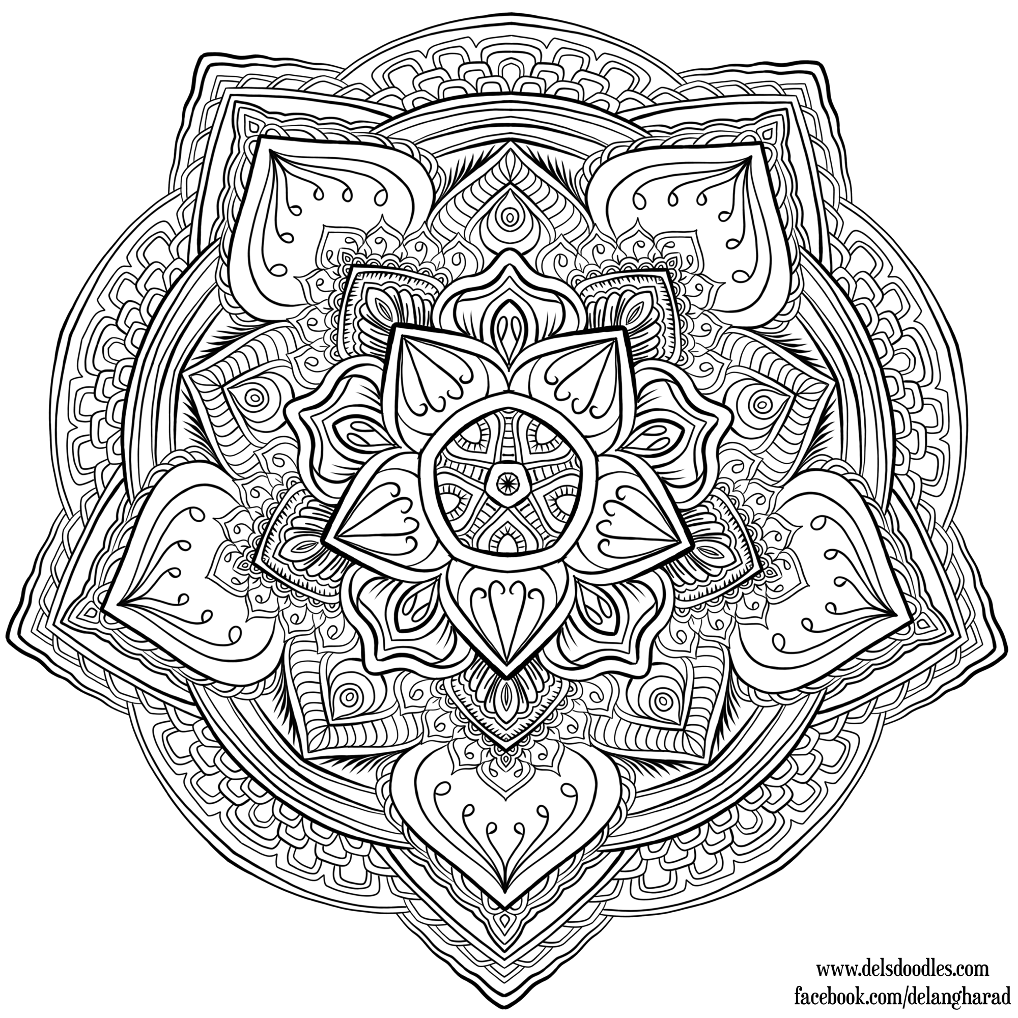 1000+ Images About Coloring Mandala's On Pinterest