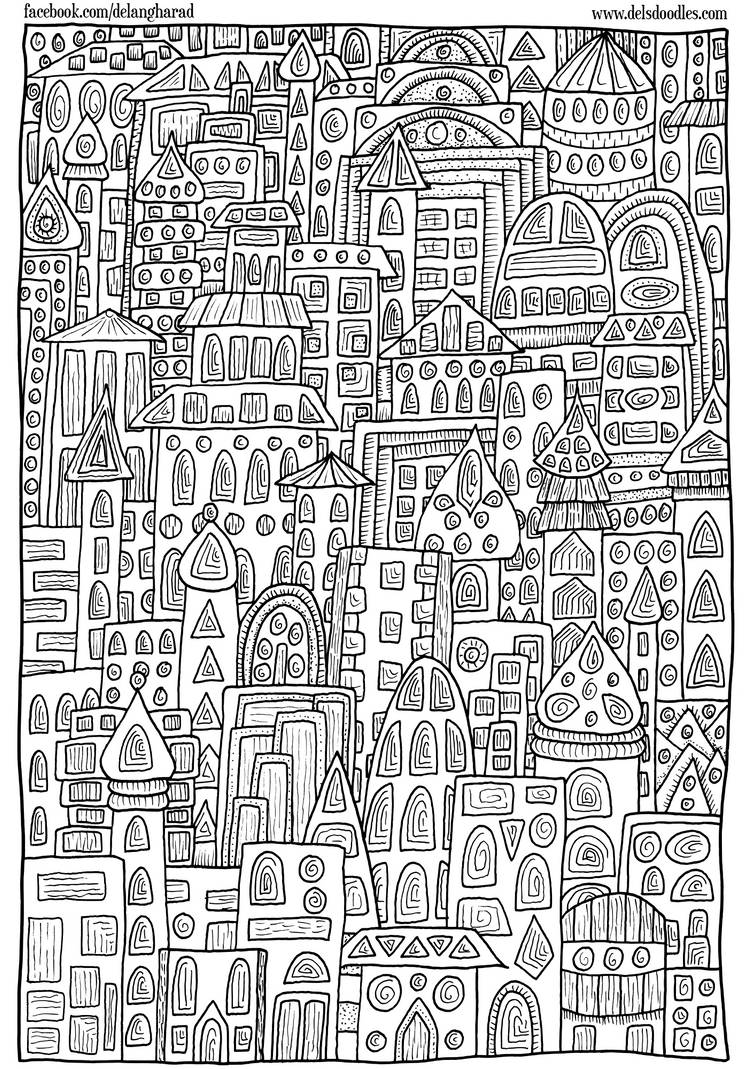 Buildings Colouring Page By Welshpixie On Deviantart