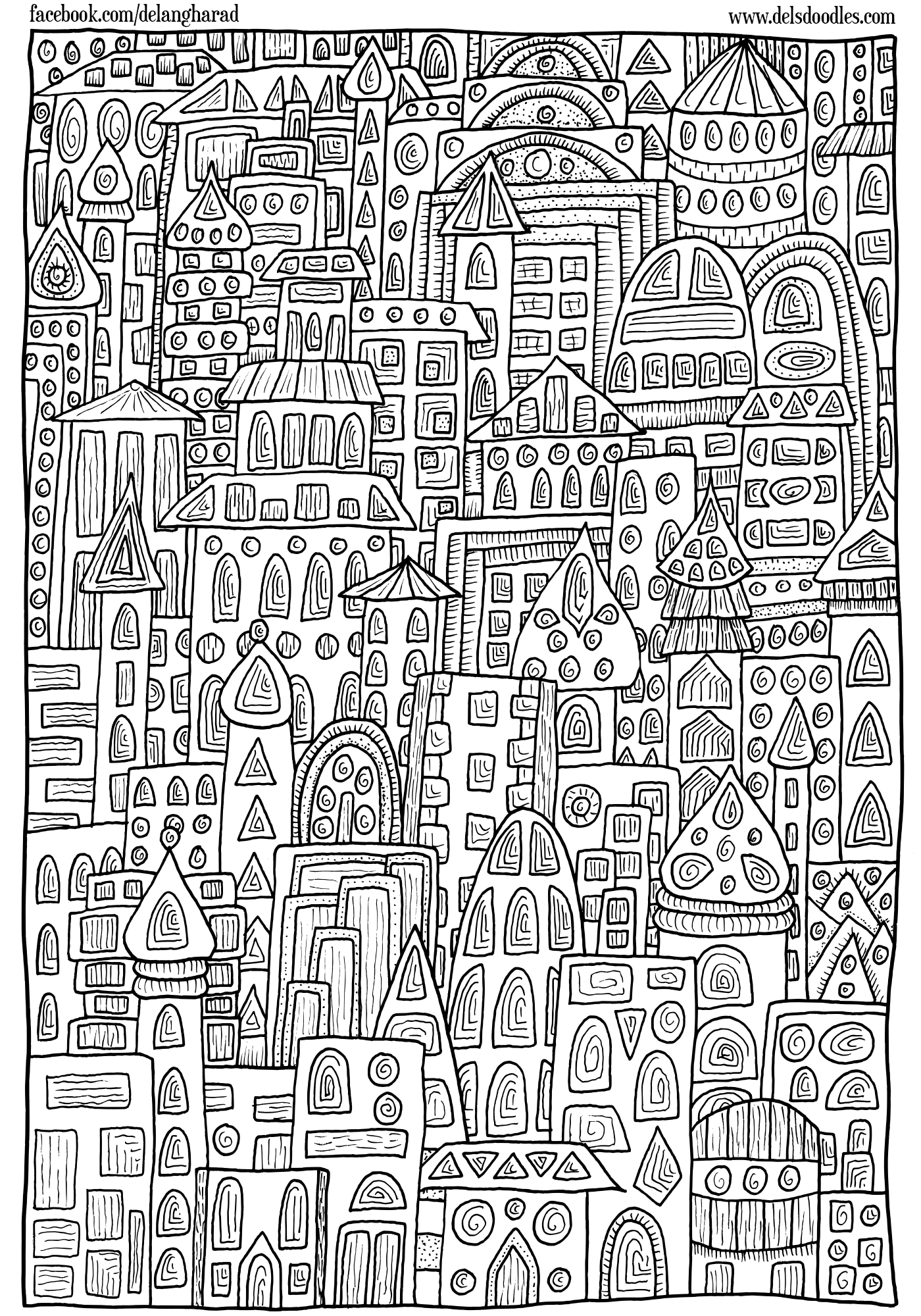 Coloring pages buildings ~ Buildings Colouring Page by WelshPixie on DeviantArt