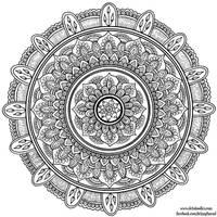 Hand-Drawn Mandala 7 by WelshPixie