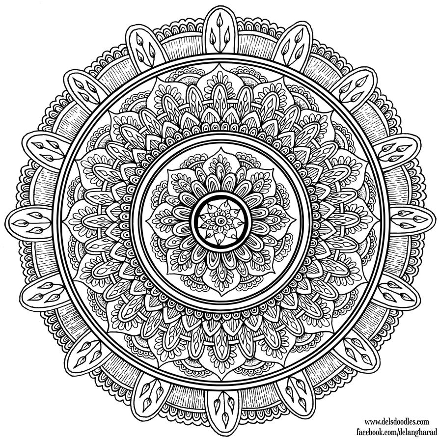 Hand Drawn Mandala 7 By Welshpixie On Deviantart