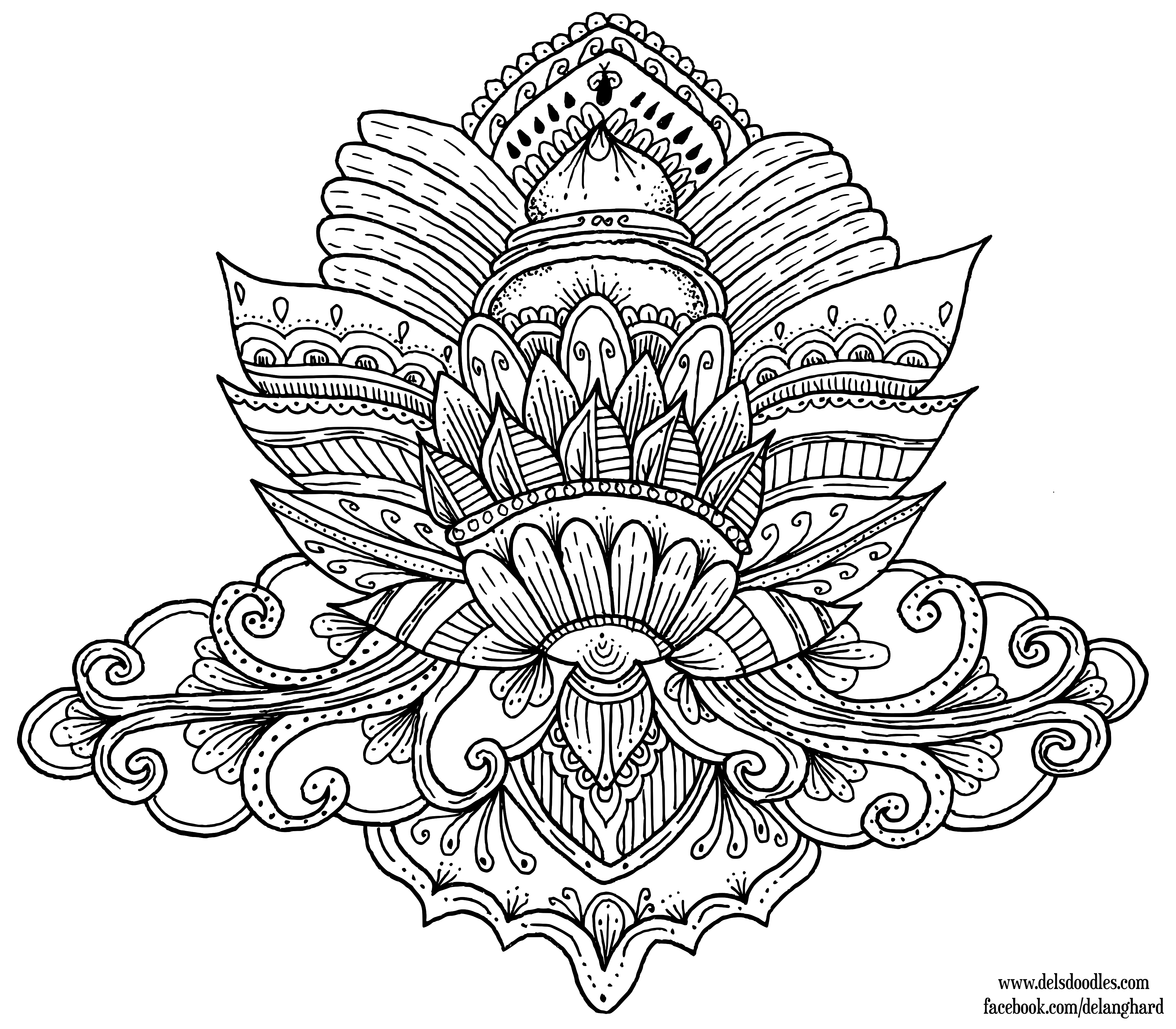Lotus Colouring Page By WelshPixie On DeviantArt
