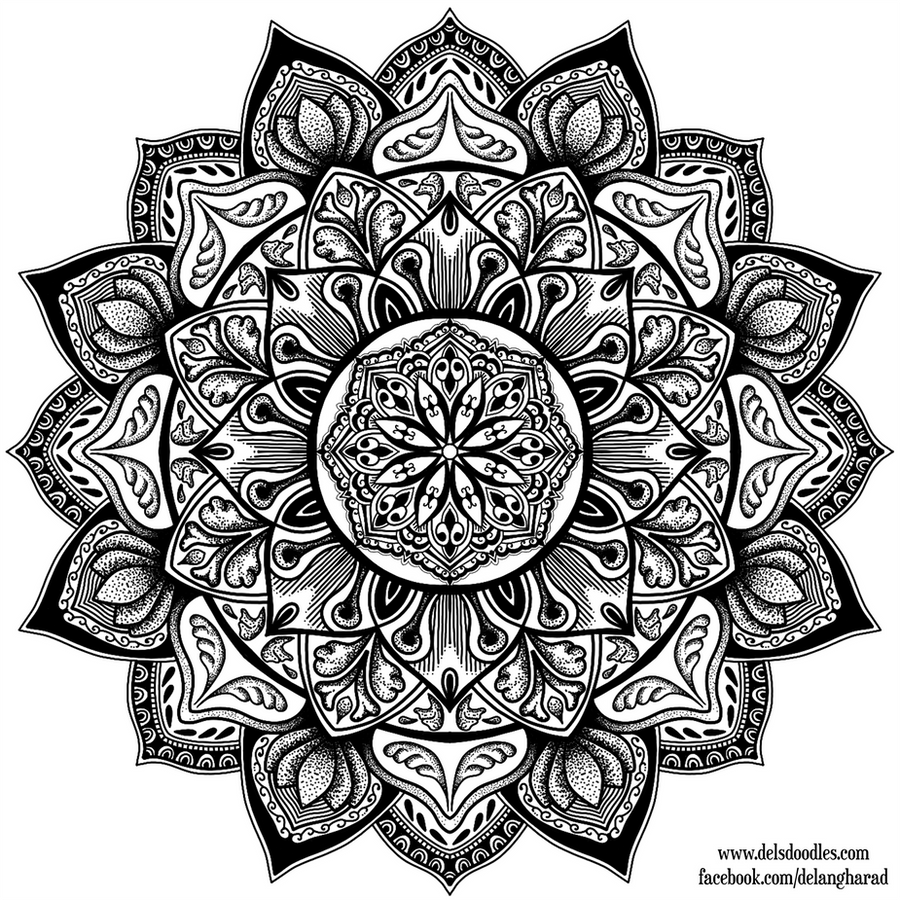 detailed mandala coloring pages - stipple mandala 3 by welshpixie on deviantart