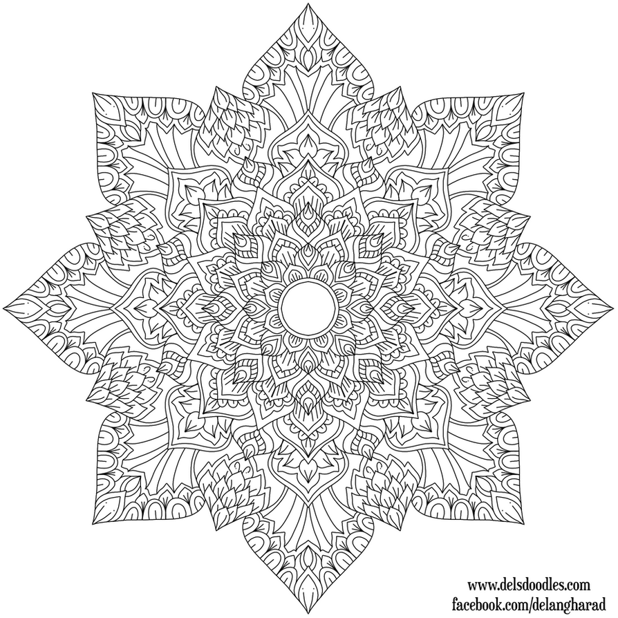Krita Drawing Line Art : Krita mandala by welshpixie on deviantart