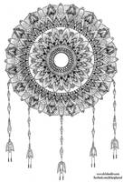 Mandala with dangles by WelshPixie