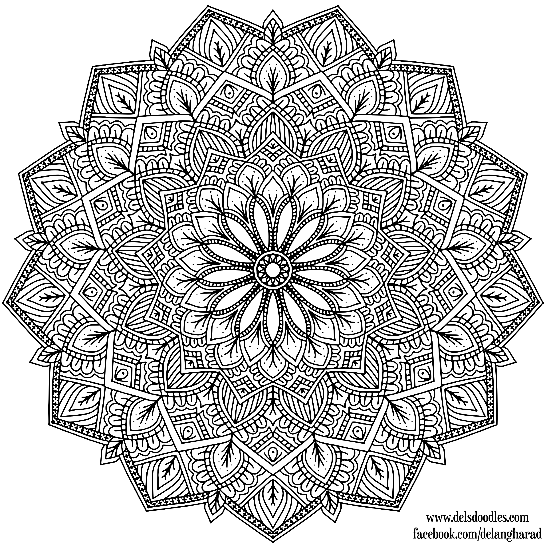 Krita Lineart : Krita mandala by welshpixie on deviantart