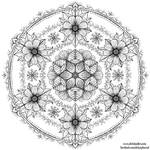 Flowery Circles Mandala