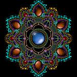 Purple Teal Gemstone Mandala