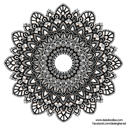 Hand-drawn mandala