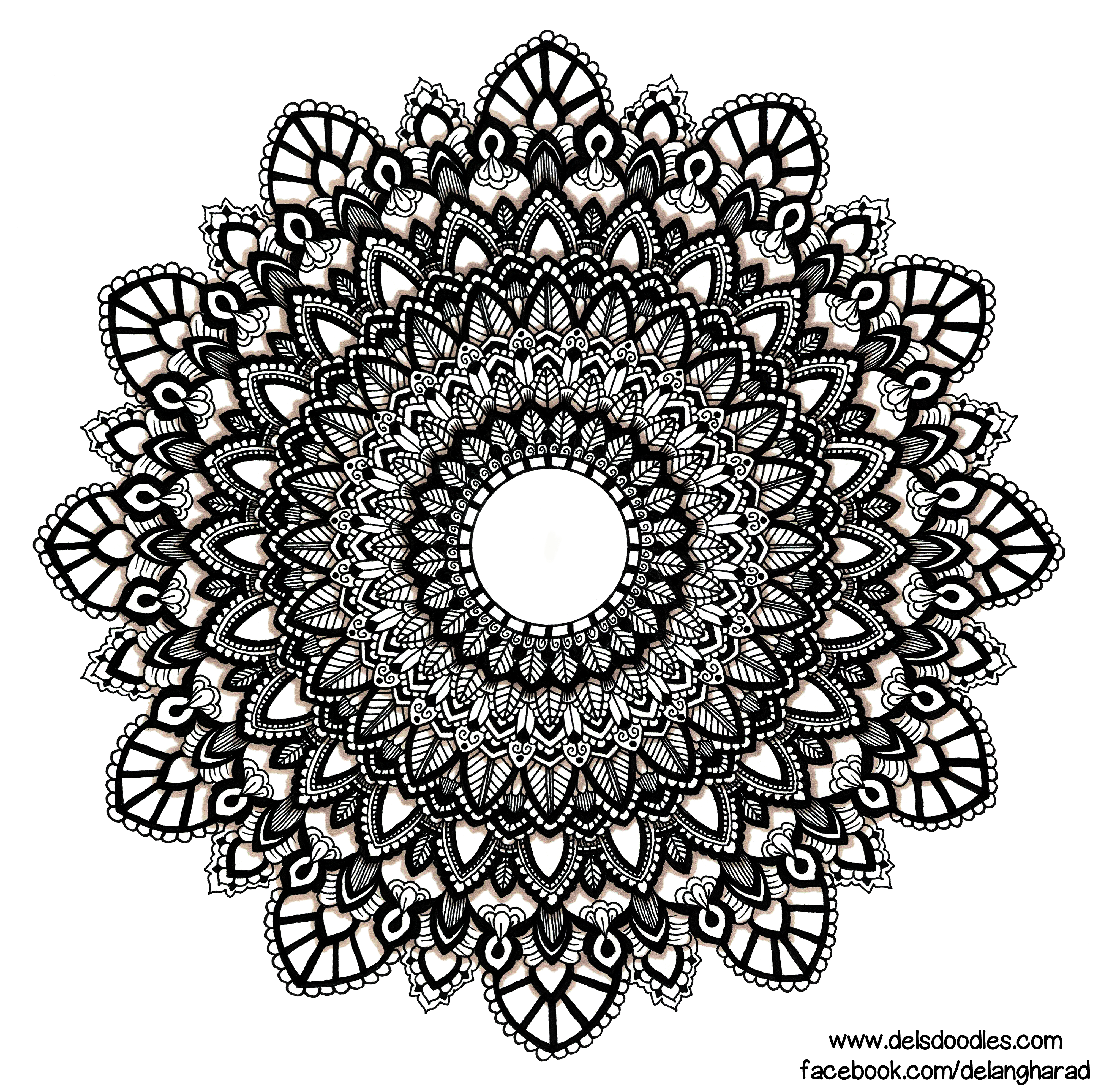 Hand-drawn mandala by WelshPixie