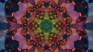 Rainbow Kaleidoscope Fractal Mandala