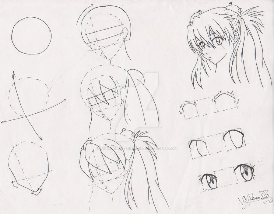 how to draw anime girl tutorial