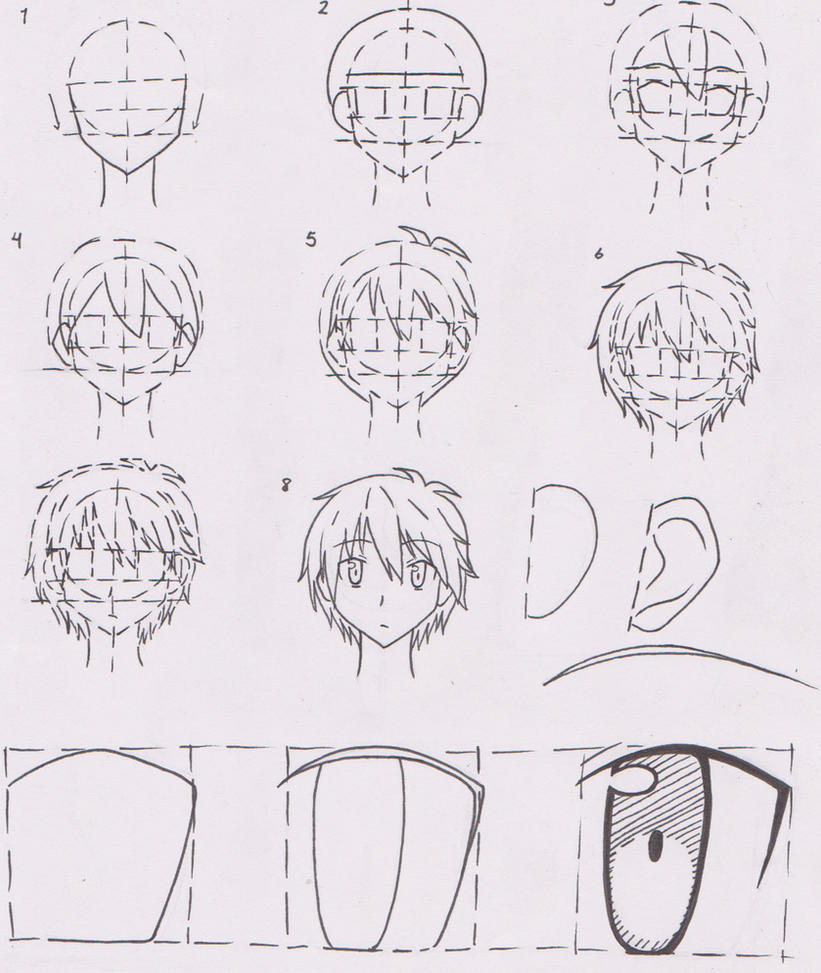 Anime Boy Character Face Tutorial 01 (Sorata) By FutagoFude-2insROID On DeviantArt