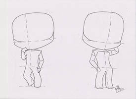Chibi Manga Tutorial: Male Pose 02 by FutagoFude-2insROID