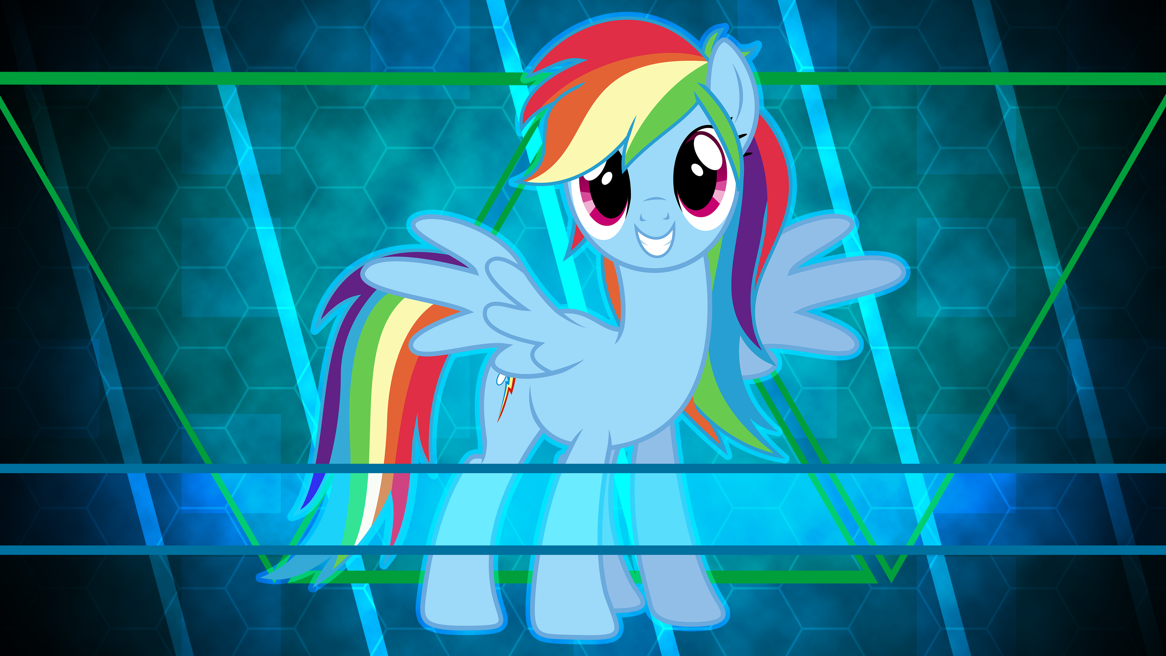 Rainbow Dash always brushes in style by Laszl
