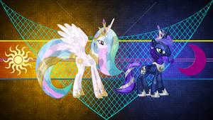 Crystalized Celestia and Luna