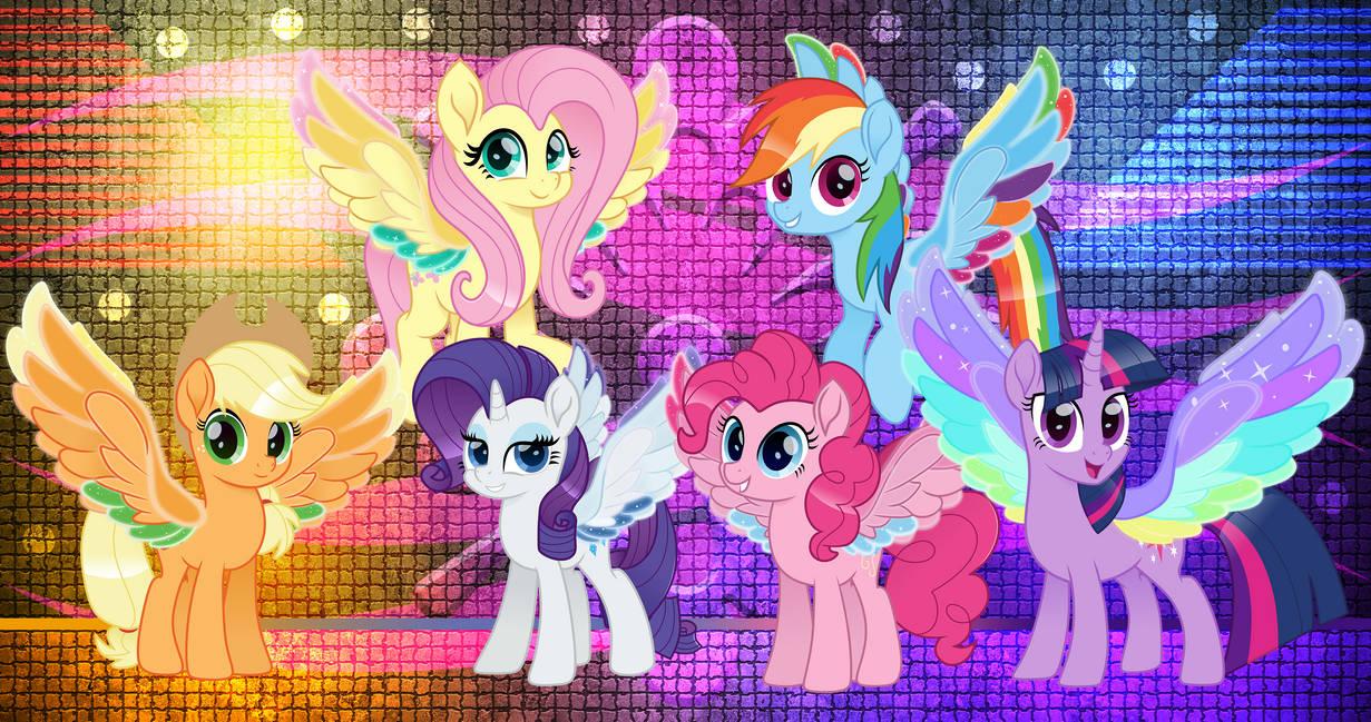 Mane 6 Rainbow Wings