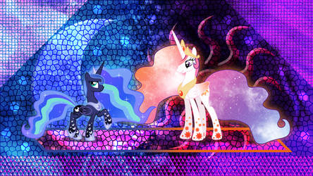 Stylish Celestia and Luna