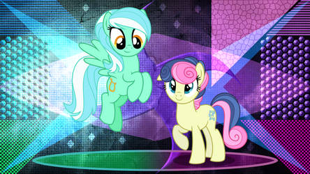 Lyra and BonBon in style