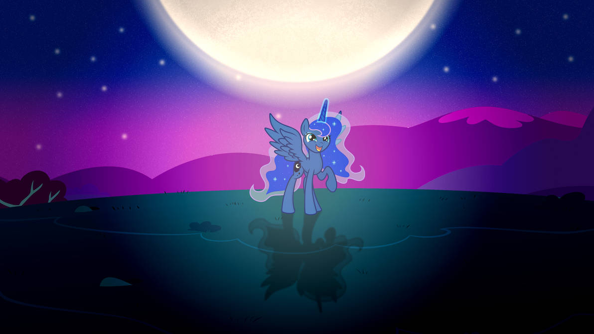 Luna playing with the moon