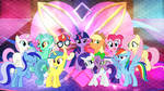 Mane 6 and Side 5 by LaszlVFX