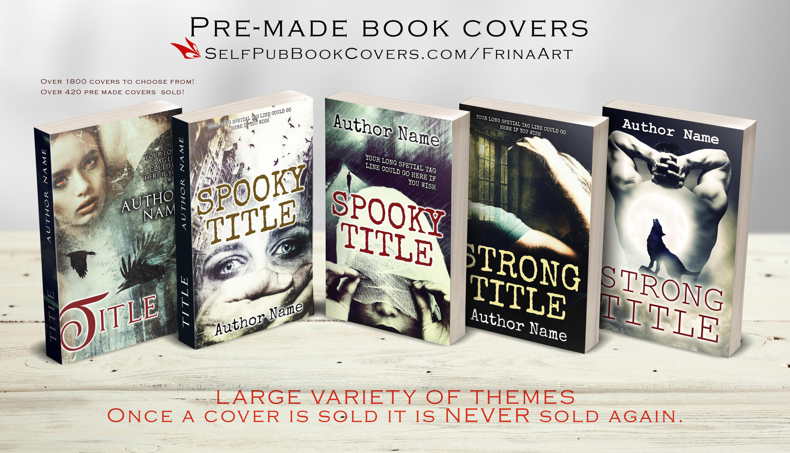Premade Book Cover Art : Pre made book covers by frinaart thriller on