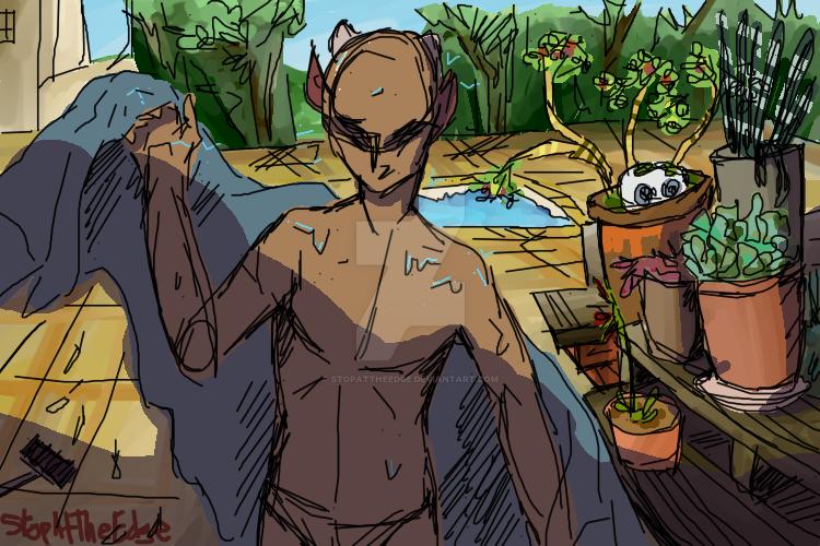 Summer Swim by StopAtTheEdge
