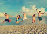 jump for the sand