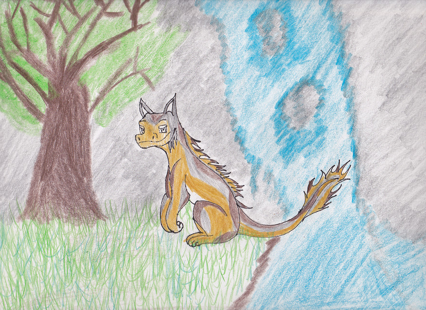 Golo the Catdragon by Ziegthefox2223