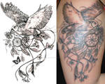 Owl And Dreamcatcher Tattoo Commission