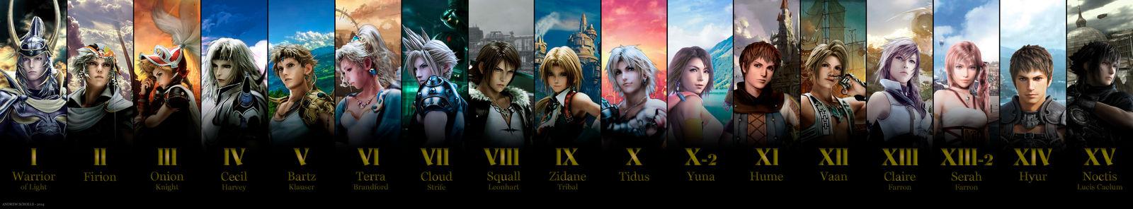 All Main Final Fantasy Games (I to XV)